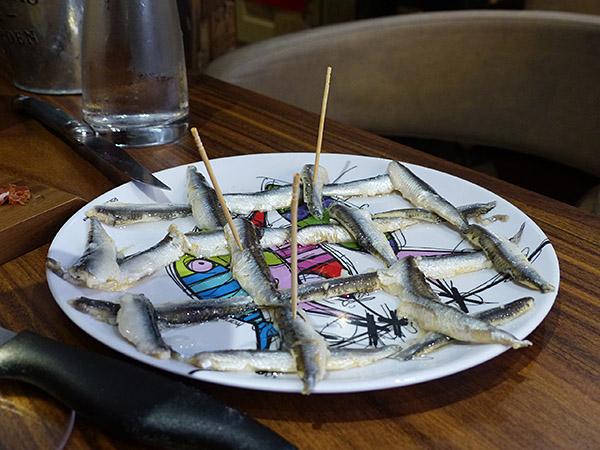 anchois marinés