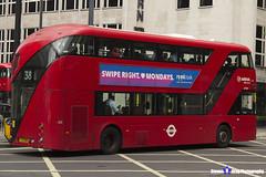 Wrightbus NRM NBFL - LTZ 1195 - LT195 - 38 - Arriva - London 2017 - Steven Gray - IMG_1206