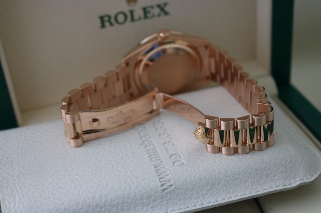 Đồng hồ rolex day date 6 số 118235 – mặt đá thiên thạch – vàng hồng – size 36