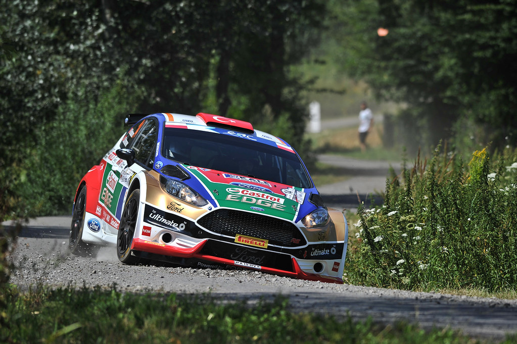 14 BOSTANCI Murat (TUR) VATANSEVER Onur (TUR) Ford Fiesta R5 action during the 2017 European Rally Championship Rally Rzeszowski in Poland from August 4 to 6 - Photo Wilfried Marcon / DPPI