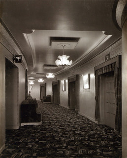 Passage to the rear of the stalls at the Paramount Theatre, Newcastle