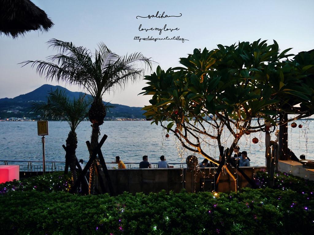 淡水老街看落日夕陽景觀情人節約會餐廳推薦榕堤水灣餐廳