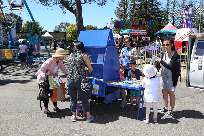 Book bike at San Mateo County Fair.