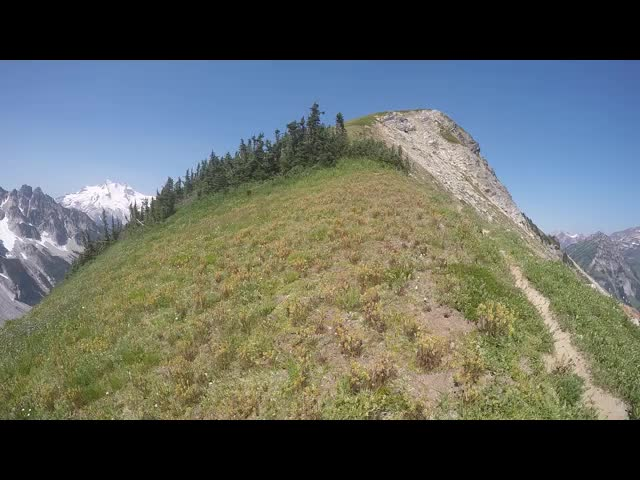 1547 GoPro video panorama from the saddle southeast of Peak 7276 on the High Pass Trail