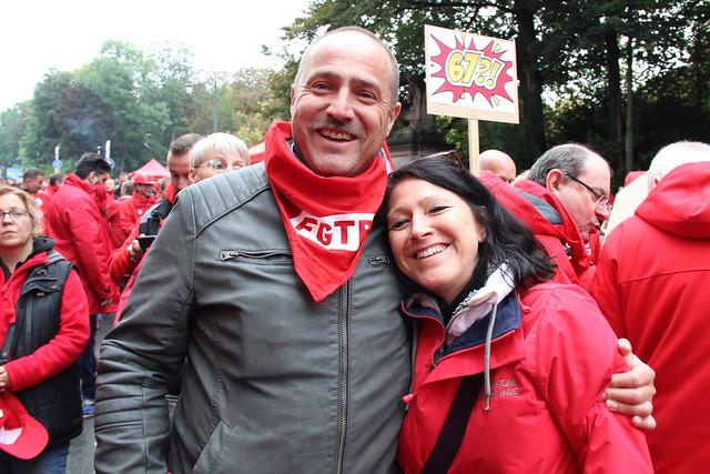 Action sur le thème des pensions ce 15 septembre 2017 à Bruxelles.