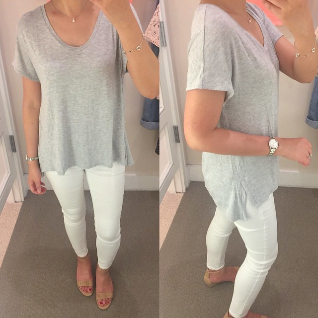 LOFT Relaxed Slit Tee, size XS regular