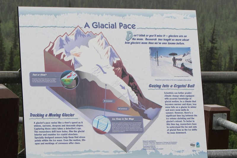 One of the explanatory boards near the Matanuska Glacier viewpoint