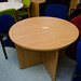 Oak 1000 diameter circular meeting table  E125