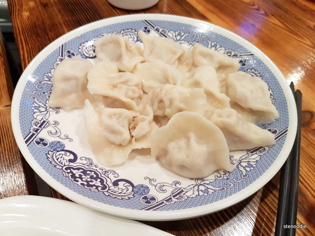 Mushroom and pork dumplings