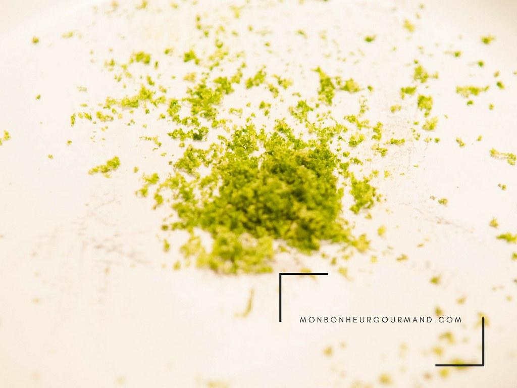 zestes de citron vert