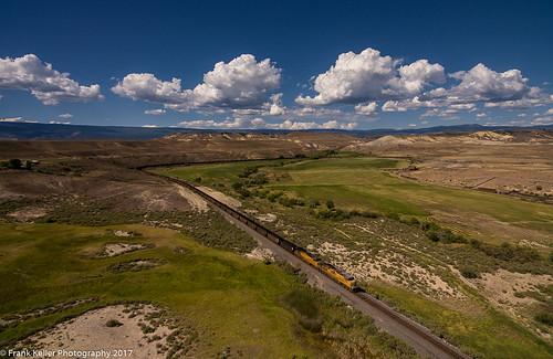 delta colorado unitedstates us landscape sky railroads trains coal aerial drone