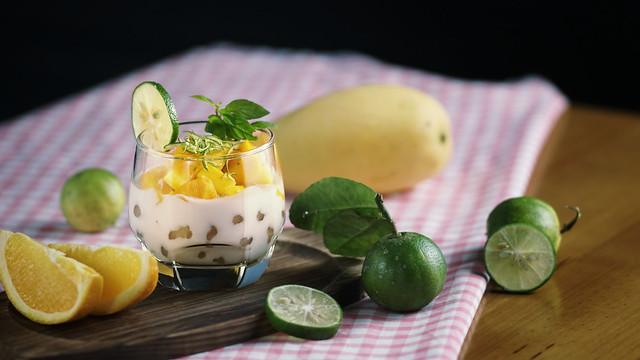 Thai Mango Pudding With Tapioca Pearl Recipe