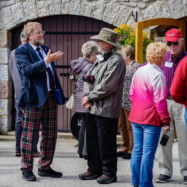 Stephen Cribb, our first guide, at Royal Lochnagar Distillery