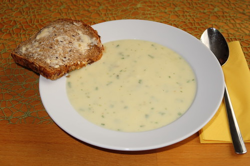 Kohlrabi-Estragon-Suppe