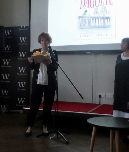 Theresa Breslin at the Rasputin Dagger launch