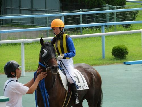 小倉競馬場でオンワードハンターに騎乗し5着になった藤田菜七子