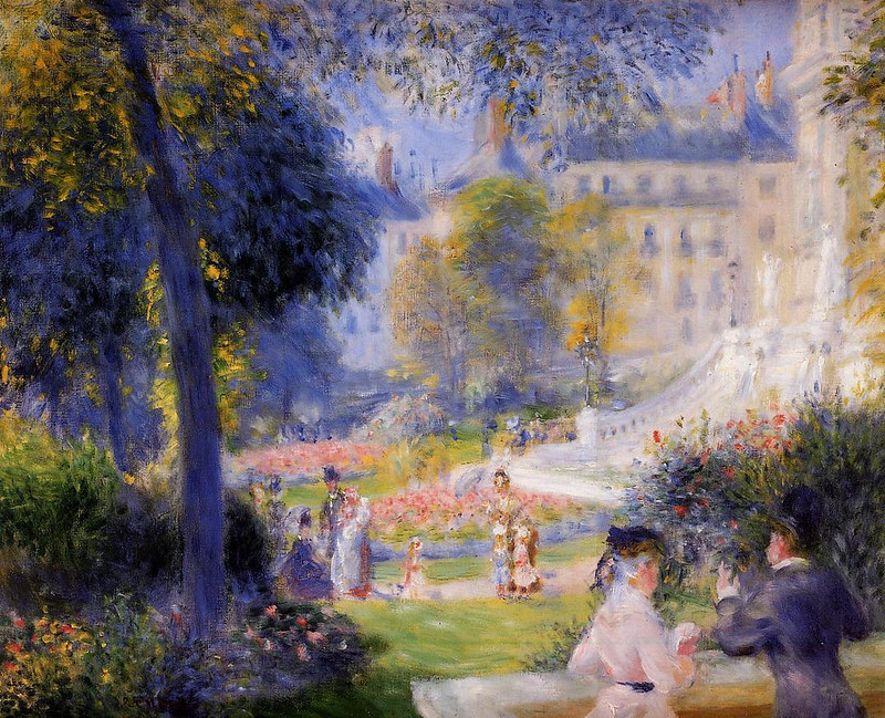 Place de la Trinite by Pierre Auguste Renoir, 1875