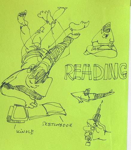 Sketchbook #106: Everyday Life - Reading