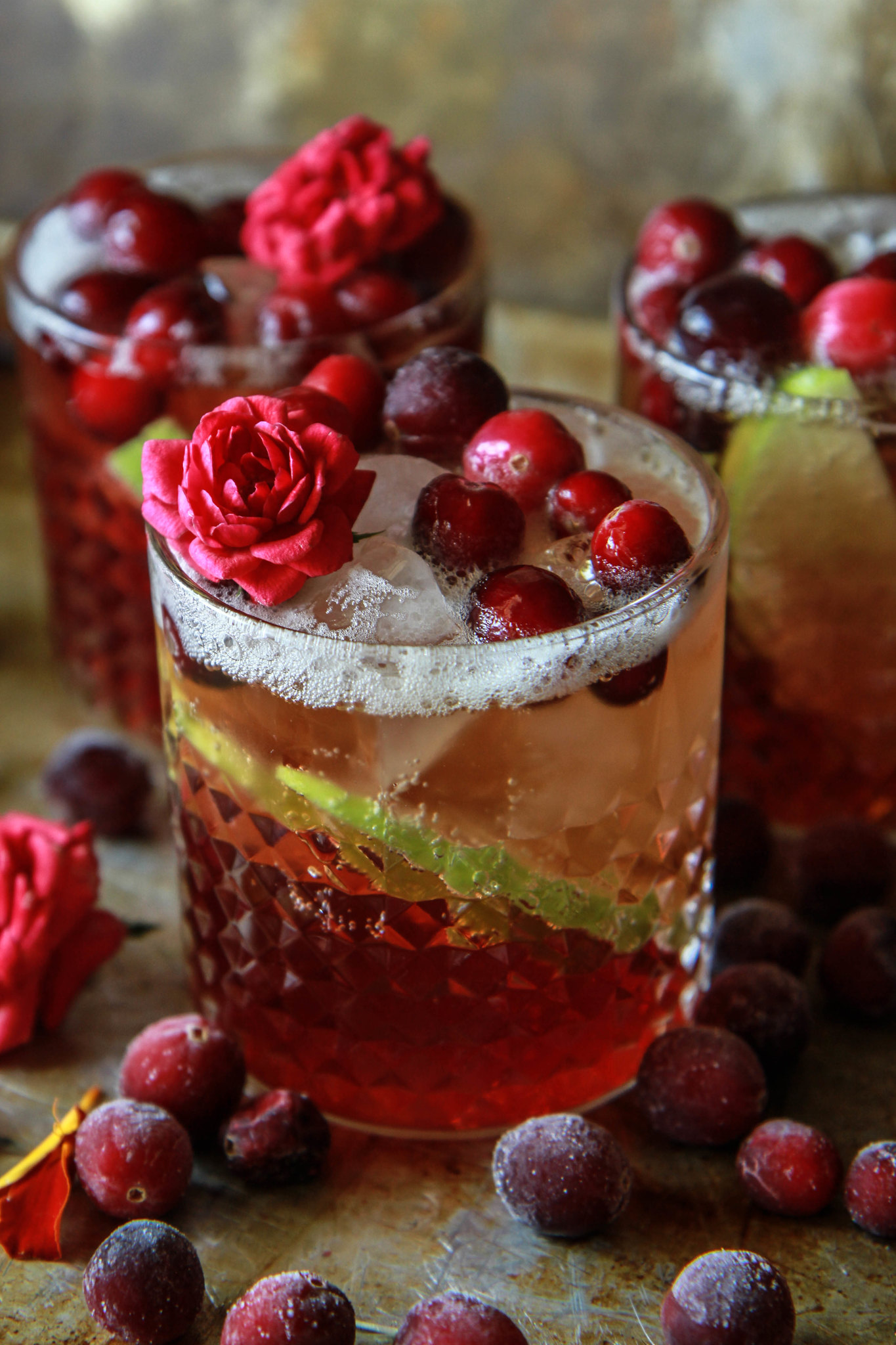 Apple Cranberry Moscow Mules from HeatherChristo.com