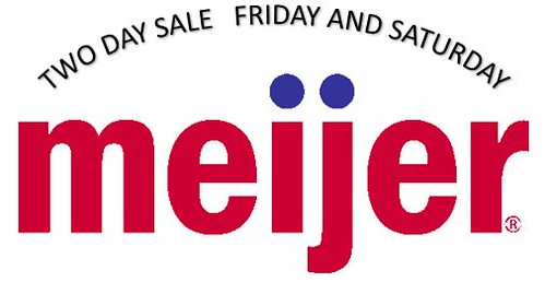 Meijer Two Day Sale Friday and Saturday September 15