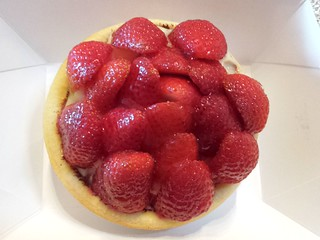 Strawberry Flan from Flour Of Life at Brisbane Vegan Markets