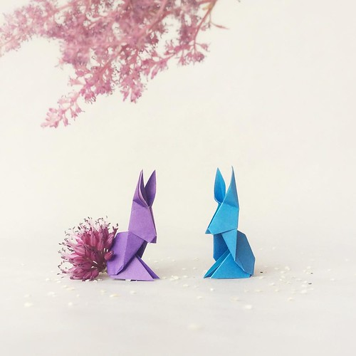 Origami Bunnies Illustration