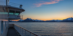 View of Lofoten from MS Polarlys