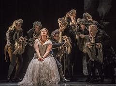 Siobhan Stagg as Pamina and Peter Bronder as Monostatos In Die Zauberflöte, The Royal Opera Season 2017/18 © ROH 2017. Photograph by Tristram Kenton.