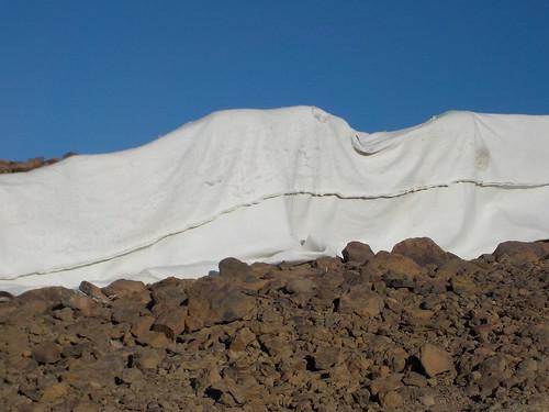 雪渓だと思ってたらこれ