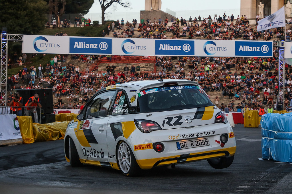 27 INGRAM Chris (GBR) ELLIOTT Edmondson (GBR) Opel Adam R2 action during the 2017 European Rally Championship ERC Rally di Roma Capitale,  from september 15 to 17 , at Fiuggi, Italia - Photo Jorge Cunha / DPPI