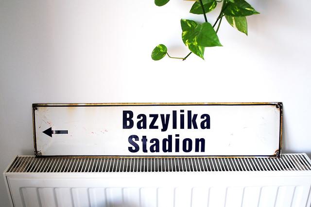 Polish street sign