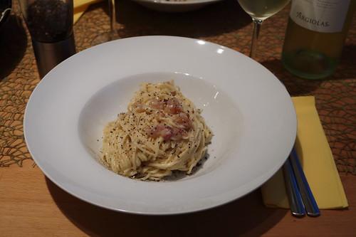 Spaghetti alla carbonara (mein 1. Teller)
