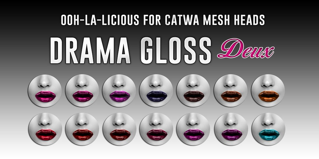 Ooh-la-licious® Drama Gloss Deux Catwa HUD Collection – The Makeover Room Oct. '17 Round