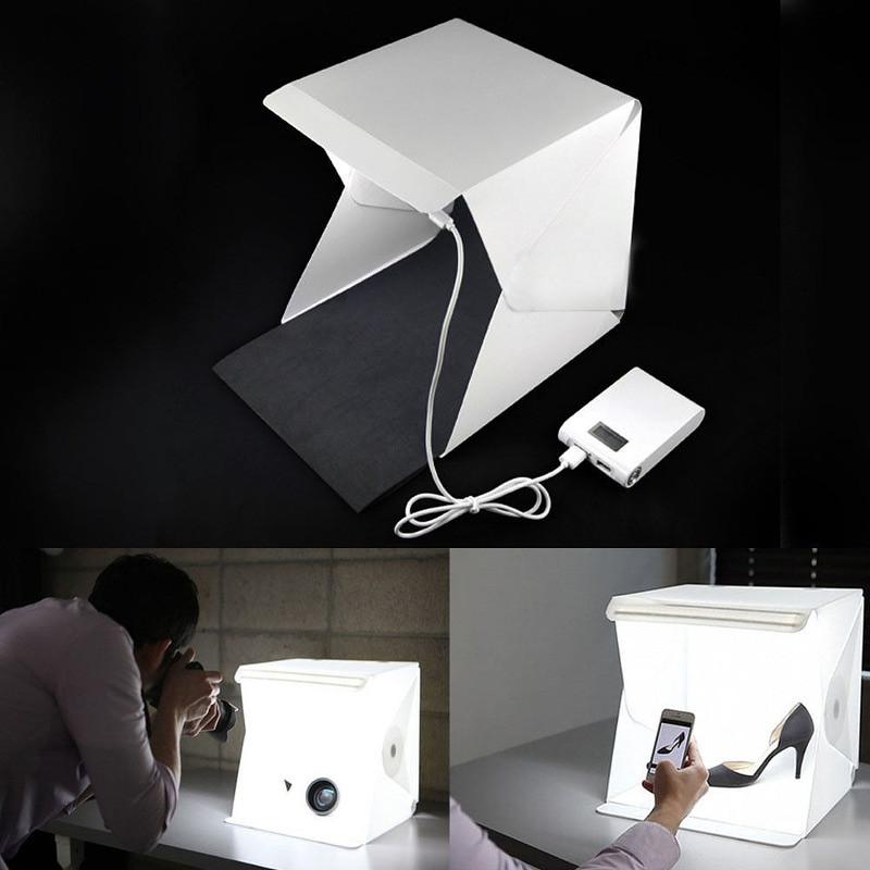 mini portable foldable led studio box tent กล่องถ่ายภาพ ถ่ายรูป สตูดิโอ