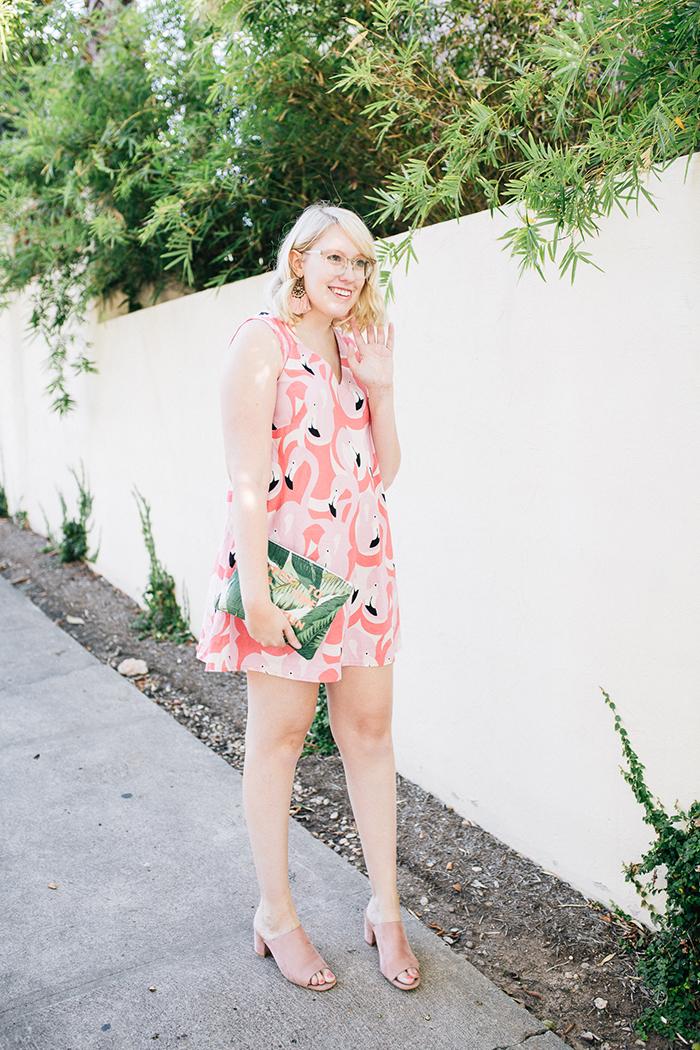 austin style blogger writes like a girl flamingo dress13