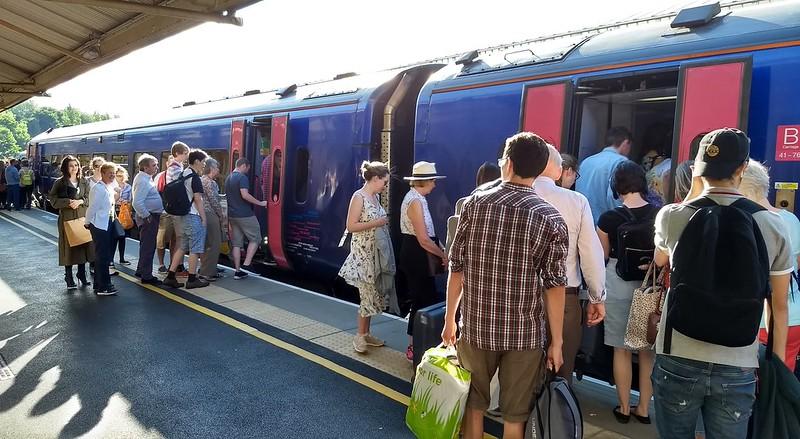 Packed train at Bath