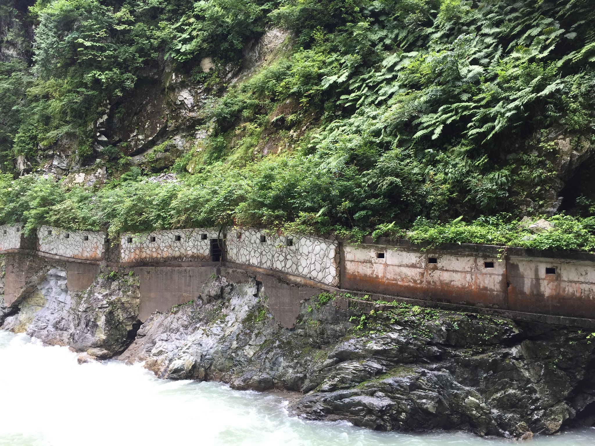 The route to Sarurobikyo (Monkey Jumping Gorge)