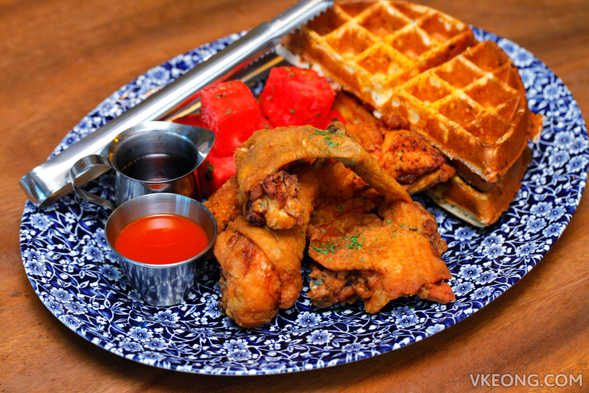 The Bird Marina Bay Sands Chicken N Watermelon N Waffles