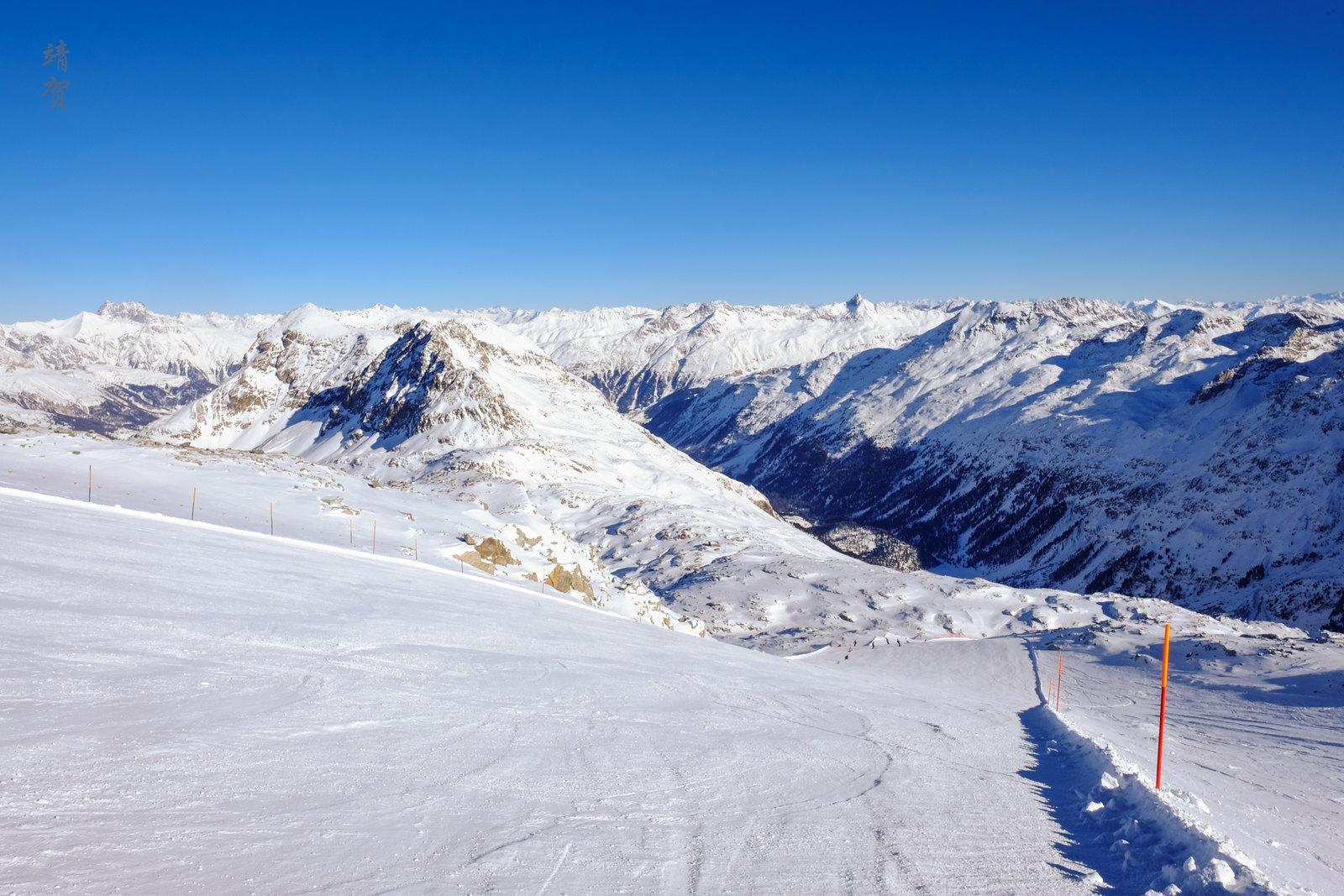 Skiing at Corvatsch Glacier