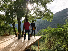 Bob & Tim and the hills around Charousse