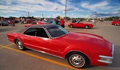Red is a popular colour - Optimist Club classic car cruise, Milton, Ontario