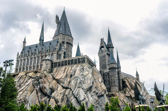 Hogwarts with trees
