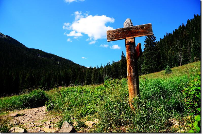 Forest Lakes & South Boulder Creek Trail fork