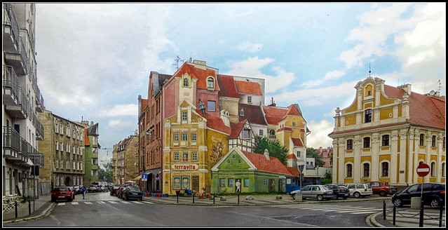 POLAND Poznań,Three-dimensional mural