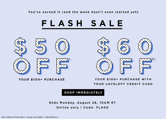 LOFT Flash Sale Alert + How to Get Free Shipping On Orders Over $50+