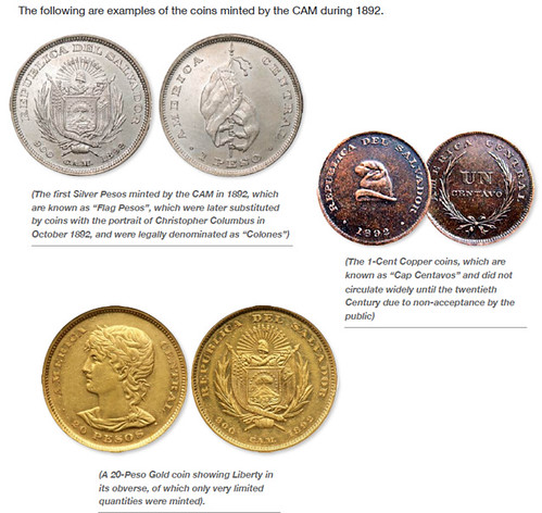 Coins Minted in 1892 at Central American Mint