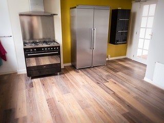 Cool floor in kitchen