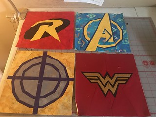Superheroes: Robin, Avengers, Hawkeye, Wonder Woman