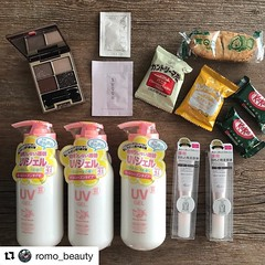 #Repost @romo_beauty (@get_repost) ・・・ Today was a fantastic day of surprises (I received a raise 💰 and I received my package from Toshiya ). I've been using this sunscreen on my daughter and my friends loved it so much when they tried it on thei