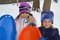 The Kids With Their Sleds